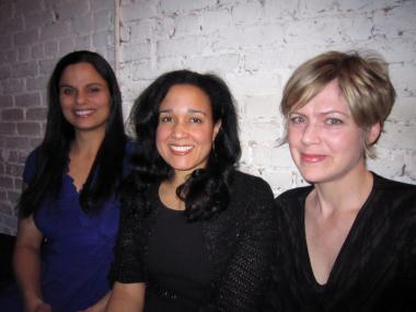 Three friends who are all published authors (from left to right)—Stacy Parker Le Melle, Wendy S. Walters and Amy Benson— decided  to launch First Person Plural, a new reading series that will kick off at Shrine World Music Venue on Monday, March 5.