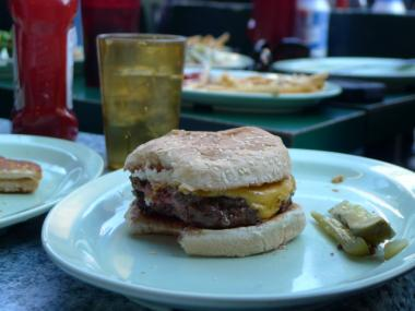 Big Nick's Burger Joint served up 60 cent burgers to celebrate its 50th anniversary.