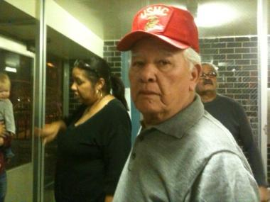 Residet Daniel Rodriguez, 77, is one of many Independence Tower tenants who is disturbed at the gas outage.