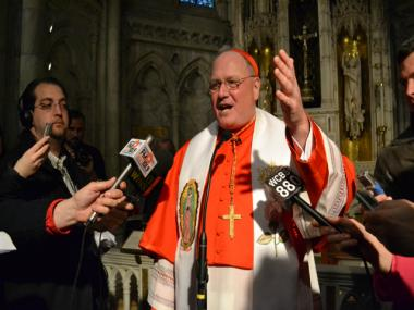 Archbishop Timothy Dolan celebrated his first Easter as cardinal at St. Patrick's Cathedral on April 8, 2012.