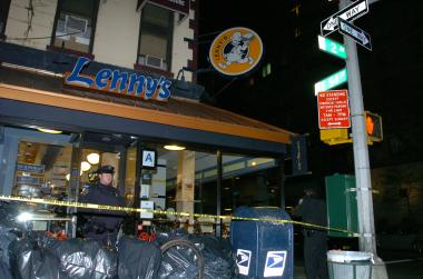 A 24-year-old man was stabbed in the neck at Lenny's at 1024 Second Avenue on Feb. 26, 2012.