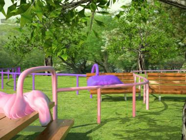 "A rendering of a new exhibit from Charles Long called ""Pet Sounds,"" which will be on display in Madison Square Park from May 2 to Sept. 9, 2012."