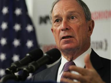 Mayor Michael Bloomberg defended NYU's 20-year expansion plan April 9, 2012.