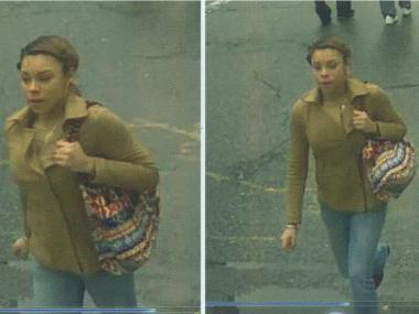Police are searching for a woman who allegedly swiped an iPhone from a woman as she walked on West 113th Street near Amsterdam Avenue on Feb. 24.