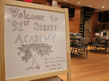 The 91st Street Academy began in January 2012 as an after-school program with activities such as yoga, theater, Chinese (Mandarin) lessons and life coaching.