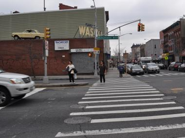 The intersection of McGuinness Boulevard and Nassau Avenue is the site of six known pedestrian deaths since 1995.
