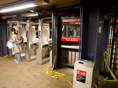 A dozen girls robbed a pair of teens on the 4 train.