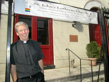 The Rev. Mark Erson said his congregation, St. John's Lutheran Church, wants to help the needy LGBT youth it sees outside its doors.