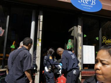 Byrd-Scolaro performed CPR on the victim before emergency crews arrived at the S&B Restaurant on Bedford Avenue in Williamsburg on Wednesday, March 14, 2012.