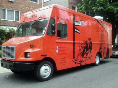 The Wall Street Burgers truck is missing, the owner said.