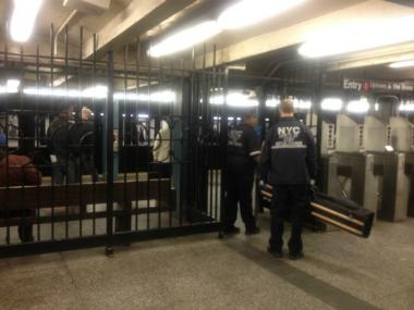 A man was struck and killed by an uptown 1 train at the 28th Street Station on Weds., March 14, 2012.