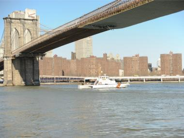 An emotionally disturbed man threatened to jump from the Brooklyn Bridge on Sept. 24, 2012.