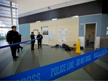 A man was stabbed at the Staten Island Ferry terminal on Fri., March 16, 2012.