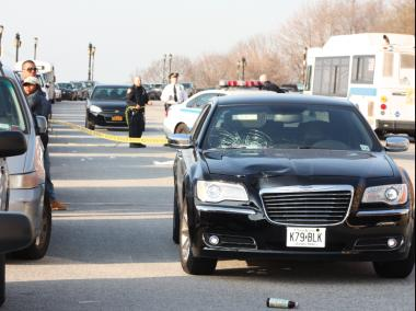 A man suffered a grave head wound after being struck by a car at Riverside Drive and West 157th Street in Washington Heights.