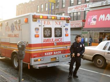 A man was struck by a vehicle in Flatbush on March 19, 2012.
