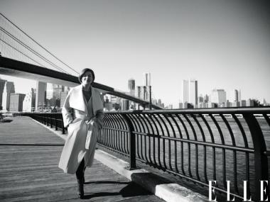 City Council Speaker Christine Quinn poses in ELLE magazine.
