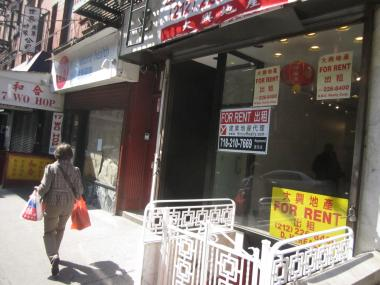 This building at 19 Mott St., owned by Jan Lee, is one of many that were recently taxed to support the Chinatown BID.