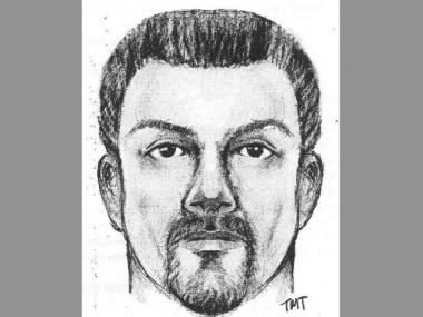A sketch of the suspect in a shooting and attempted robbery in Staten Island on March 2.