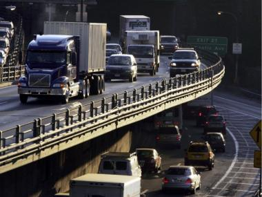 A 50-year-old man was killed after two tractor-trailers crashed on the Brooklyn-Queens Expressway on Oct. 16, 2012.