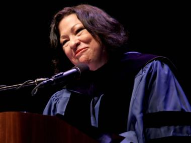 Sonia Sotomayor delivered a graduation speech at one of her alma maters, Hostos Community College in the Bronx, in June 2010.