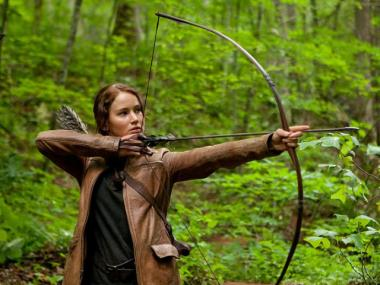Jennifer Lawrence plays the lead role of Katniss in the film version of the wildly popular young adult novel.