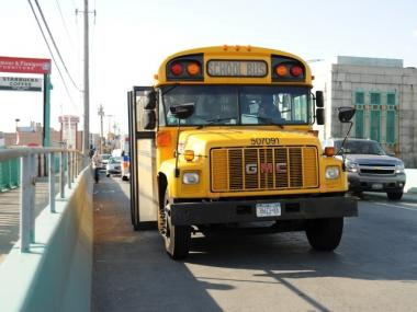 A school bus was involved in a crash at Cropsey St. and Bay 54th Street on March 26, 2012.