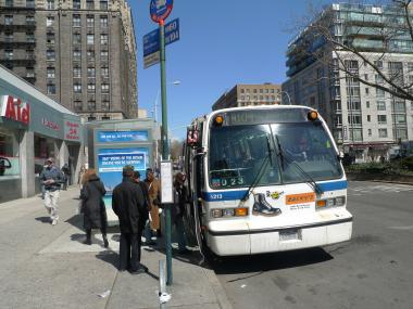 Police say the M104 is one of several bus lines where pickpockets have targeted elderly riders recently.
