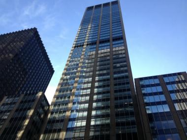 An elevator worker was electrocuted at 1290 Sixth Ave. on Weds., March 28, 2012.