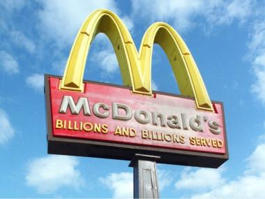 A gunman allegedly robbed a McDonald's at 181-25 Jamaica Ave. in Hollis on April 19, 2012.
