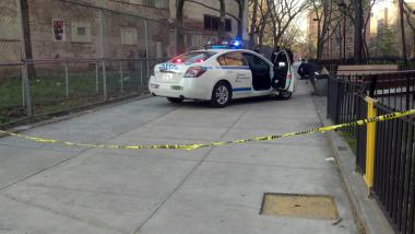 A 23-year-old man was shot in his thigh in East Harlem Friday afternoon, NYPD officials said.