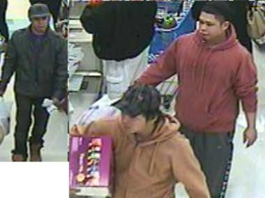 Police are searching for three men wanted in connection with a stolen credit card used in a Pathmark in Elm Park.