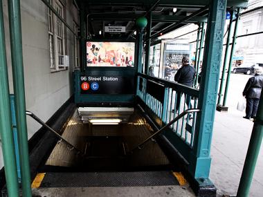 An entrance to the 96th Street B and C train station on April 1, 2012.
