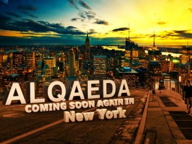 A graphic apparently threatening the city appeared on several web sites affiliated with Al Qaeda on April 2, 2012.