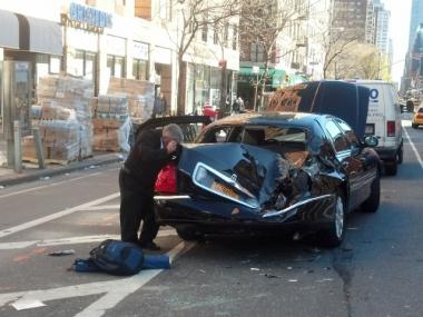 Two men were in a four-vehicle crash on Eighth Avenue and West 21st Street on April 3, 2012.
