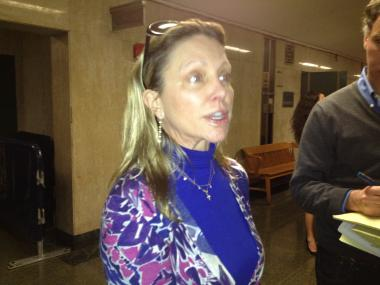 Roxane West outside the courtroom Tuesday.