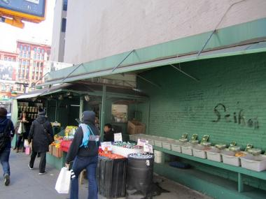 A fruit stand on SoHo would potentially be displaced by a development plan of land owned by the MTA.