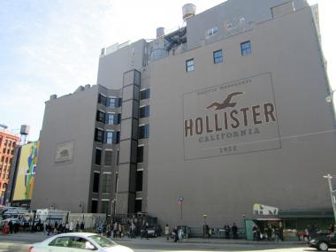 MTA-owned land under the Hollister billboard in SoHo could be the future site of a six-story building.