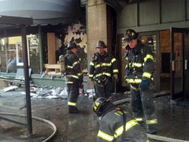 Officials believe the fire may have started in the department store's window display.