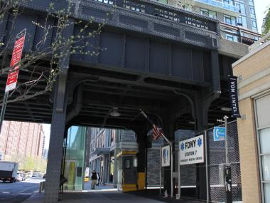 Residents say this EMS Station under the High Line is ruining quality of life in their pricey Chelsea apartments.