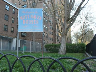 The eight 20- and 22-story buildings at the Mott Haven Houses in the South Bronx will be the first to get new high-tech security systems.