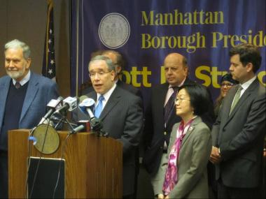 Manhattan Borough President Scott Stringer announced April 11, 2012 that he has conditionally approved NYU's 20-year expansion plan.