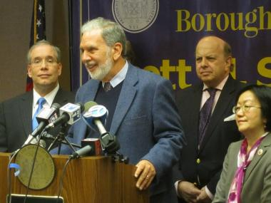 NYU president John Sexton said April 11, 2012 that the pain of 20 years of construction on the university's campus will be felt by faculty and students as well as by NYU's neighbors.