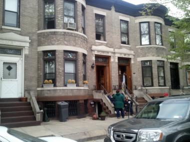 More than 100 firefighters were dispatched to a fire at a two-story home in Bay Ridge on Wednesday, April 11, 2012.