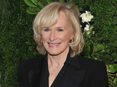 Glenn Close at the Christie's Green Auction at Rockerfeller Center on April 11. 2012.