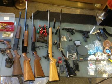 Police found guns, ammunition, cocaine, marijuana and more at 1535 71st St. in Brooklyn April 12, 2012.