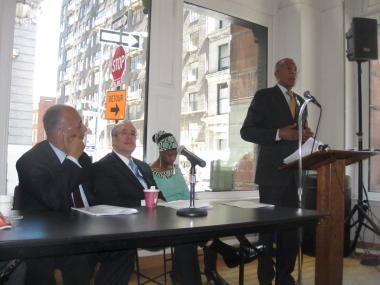 Three of the presumptive mayoral candidates scolded the Bloomberg administration's record on education.