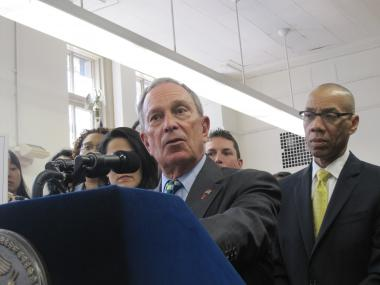 Mayor Michael Bloomberg said the 54 new schools opening across the city in the fall will offer students more choices.