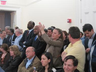 Opponents and advocates cheered and booed throughout the hearing, as the livery street hail plan was discussed.