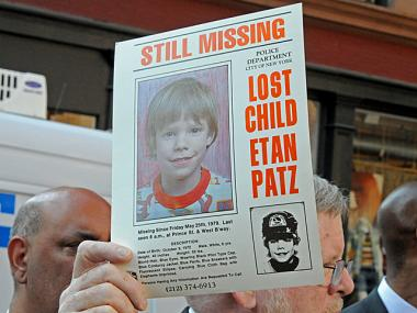 The original missing child poster for Etan Patz, who disappeared in SoHo in 1979.