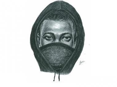 Police sketch of a man who raped a woman at gunpoint in Hollis Queens on April 20, 2012